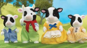Buttercup Friesian Cow Family