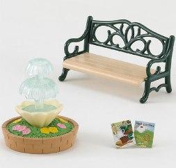 Fountain & Garden Bench Set