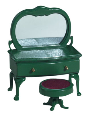 Green Ornate Dressing Table