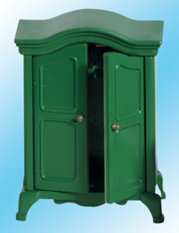 Green Ornate Wardrobe