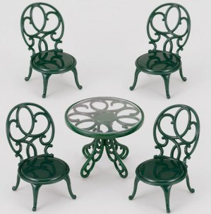 Ornate Garden Table &amp; Chairs