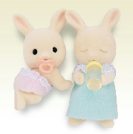 Periwinkle Rabbit Sleeping / Crawling Twins