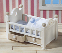 White Baby Cot with Drawers