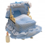 Blue Ornate Crib