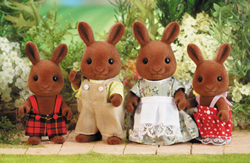 Sylvanian Families Brown Rabbit Family