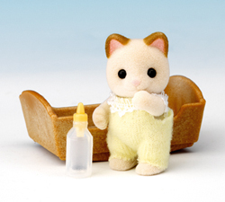 Sylvanian Families Cream Cat Baby
