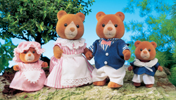 Sylvanian Family Marmalade Bear Family
